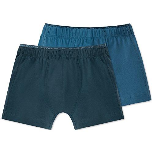 Schiesser Jungen Boxershorts 2Pack Shorts, 2er Pack, Mehrfarbig (Sortiert 1 901), 140 (Herstellergröße XS)
