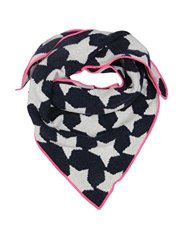 Cashmere Dreams Dreieckstuch mit Kaschmir - Hochwertiger Schal mit Sternen für Baby-s Jungen und Mädchen - XXL Hals-Tuch und Damen - Strick-Waren für Sommer und Winter Zwillingsherz -navy