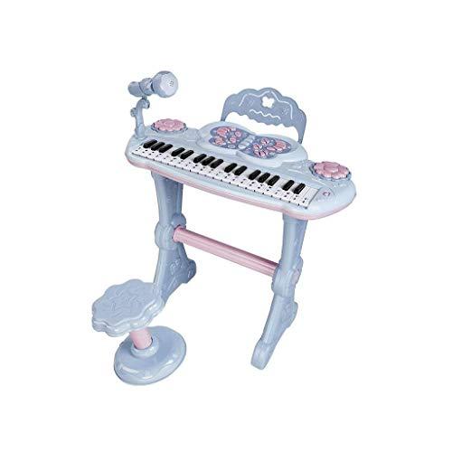 Digitale piano Toetsenbord Kleine Piano met microfoon Kinderen Beginners slag Girls Can Play Music Toys Thuis 3-6 Year Old (Kleur: Blauw) (Color : Blue)