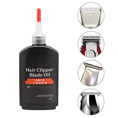 120ML Hair Clipper Oil Shaving Oil Shaver Maintenance Repair Oil Oil Clipper Blade Lubricating Oil Maintenance Kit pour Tous Les rasoirs, tondeuses et tondeuses à Cheveux