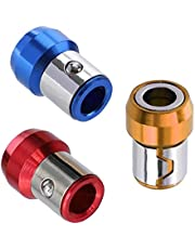 Bravosoleil 6.35mm Schroevendraaier Bit Magnetic Ring Magnetizer Ring Metal Red Yellow Blue Screw Magnetic Houders 3pcs