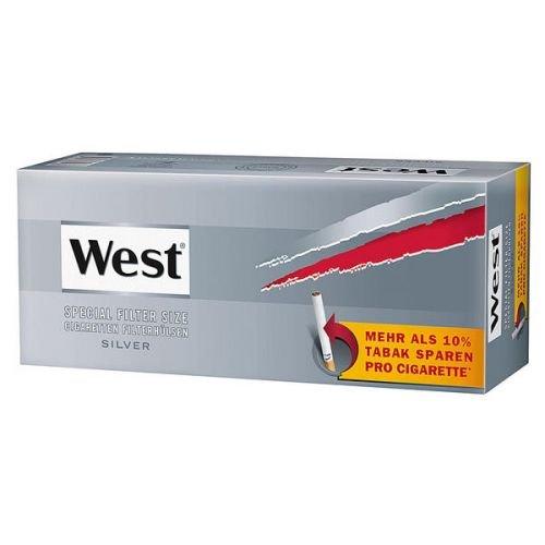 Zigarettenhülsen West Silver Special 1.000 Stück