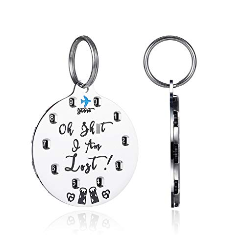 STVK Dog Tag [DIY] Make Your Dog A Pet ID Tag by Yourself, Engraved Personalized Dog ID Tags,Lightweight Stainless Steel, Fulfilled by Amazon Directly, Customized Name Tag for Cats Dogs