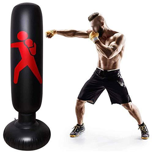 XHLLX Bolso de Boxeo del Boxeo de la Aptitud, Bolsas inflables del Bolso del Vaso perforando para el Entrenamiento del Boxeo, Bolsa de Boxeo para niños Boxsack