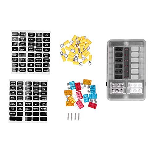 ROMACK Portafusibles, Bloque de Caja de Fusibles Universal para Coches para Barcos