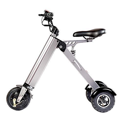 TopMate ES31 Scooter Elettrico Mini Peso Triciclo Pieghevole con Limite di velocità a 3 Marce 6-12-20KM / H e 3 ammortizzatori