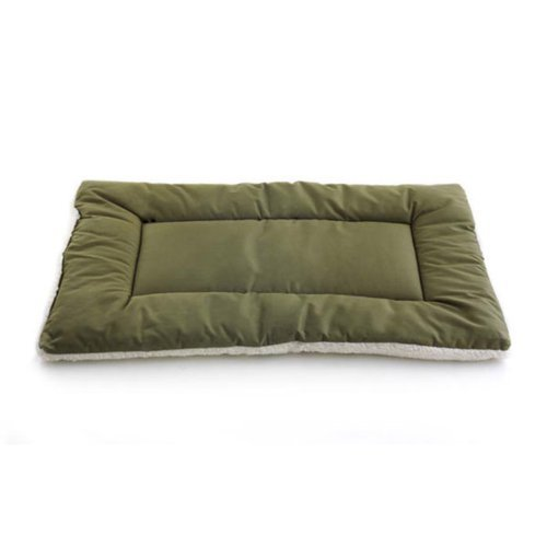Pet Dreams Dog Crate Bed -Original Crate Pad/Kennel Mat - Quality Bedding Since 1999, 2 in1 Reversible for Summer and Winter. 100% Wash & Dry, Never Bunches! X-Large 42' Olive