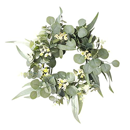 Amosfun Guirlanda de flores, guirlanda de plantas, verão, grinalda de primavera, casamento, guirlanda de folhas artificiais, guirlanda de guirlanda para festas, paredes e janelas