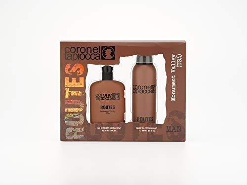 Coronel Tapiocca, USA Estuche de Regalo para Hombre, Eau de Toilette 75 ml y Desodorante en Spray 200 ml
