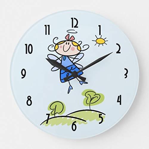 565 pir Maravillosa hada feliz que vuela fuera del gran reloj.