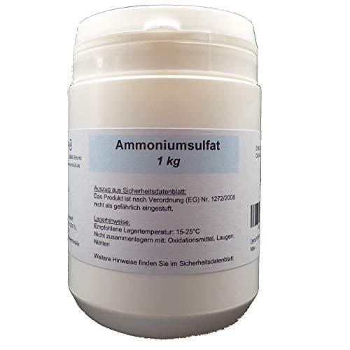 Centra24 Ammoniumsulfat 1 kg, min 99% Reinheit, di-Ammoniumsulfat, technische Qualität, Mascagnin, Pool, Düngerzusatz, E517, Labor, Garten, Beet, Experiment