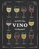 Agenda del Vino per le tue degustazioni: 125 schede enologiche dettagliate da riempire per gli amanti del vino