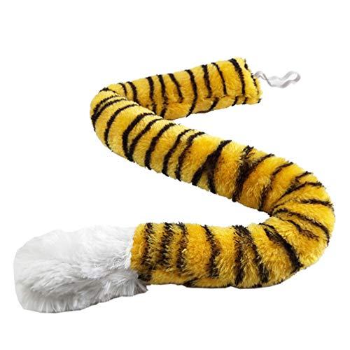 STOBOK Plüsch Tiger Schwanz Tier Kostüm Zubehör Kinder Erwachsene Ostern Karneval Kostüm Cosplay Partei Maskerade Requisiten