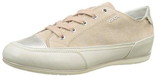 Geox Damen D New MOENA D Sneaker, Beige (Skin/Off WHITEC8116), 42 EU