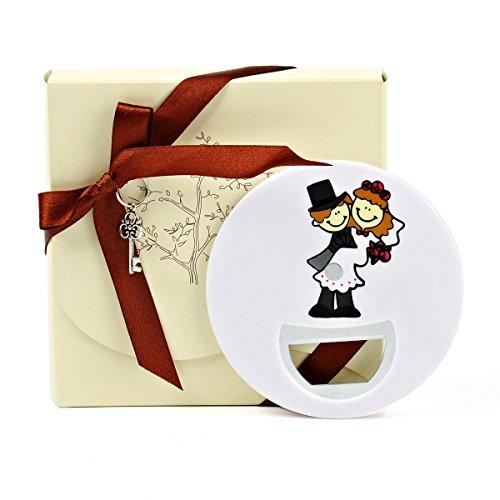 OnePlace, apribottiglie con calamita per frigorifero, confezione da 10 pezzi, regalo esclusivo, The Newly Weds, apribottiglie per matrimonio