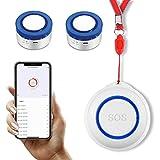 Botón De Emergencia Tuya Smart Wifi,Collar De Alerta De Vida Impermeable Con Botón SOS De Llamada De Emergencia,Sistema De Alerta De Emergencia Para Personas De La Tercera Edad (B)