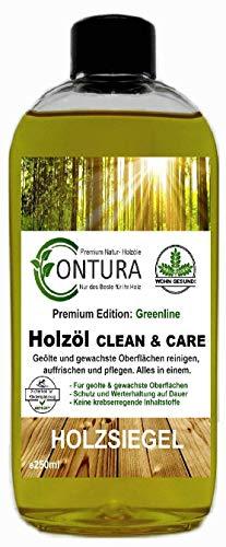 250ml Contura Clean & Care Pflegeöl Regenerator Fussbodenöl Holzöl Parkettöl Holzschutz nachölen auffrischen pflegen Holzpflegeset Pflegeset Pflegemittel...