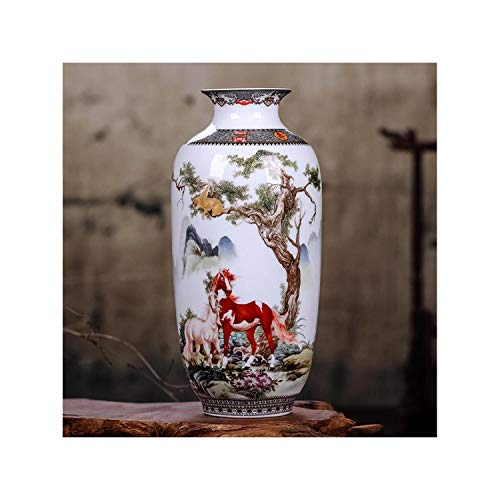 Lou Chapman Keramik Schreibtisch Vase Vintage chinesische traditionelle Tier Vase Wohnkultur Glatte Oberfläche Einrichtungsartikel Blumentopf, F