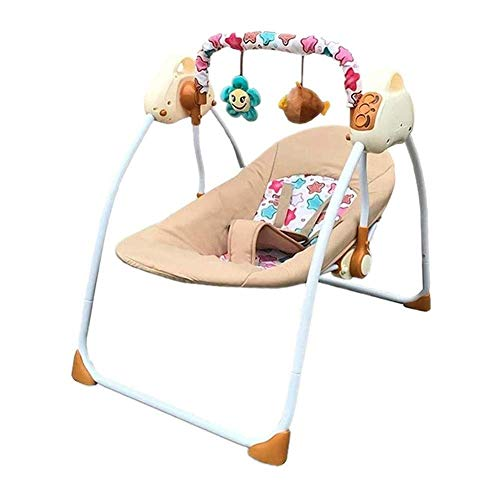 Learn More About LYATW 2-in-1 Convertible Kids Swing and High Chair with Bluetooth, Electric Rocking...