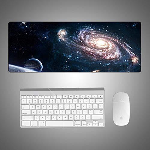 JIACHOZI gaming teclado raton alfombrilla Espacio planeta vía láctea 1200×600×3 mm Teclado extendido Extra Grande para Escritorio con Base de Goma Antideslizante para Gamers, PC y Portátil Alfombrilla