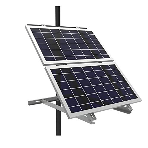 AIMS Power Adjustable Solar Panel Pole Mount Bracket - Fits 2 Panels up to 170 Watts Each