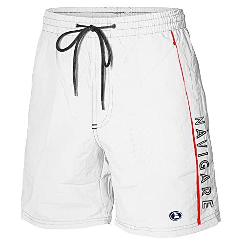 Navigare Costume Mare Uomo Boxer Short Assortito Art. 998370 (M, Bianco)