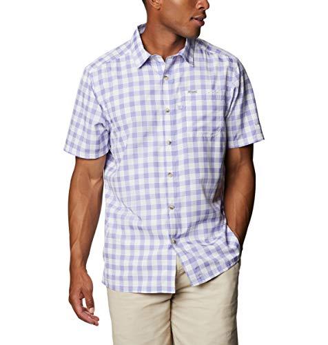 Columbia Super Slack Tide - Camisa de Campamento para Hombre, Hombre, Super Slack Tide - Camiseta de Campamento, 165376, Tartán Palaka, 4X Big