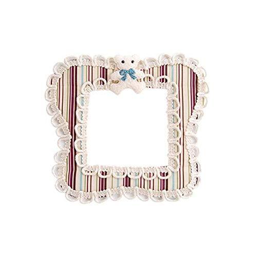 Interruptor de dibujos animados de tela Pegatinas Interruptor de sala de estar Cubierta protectora Enchufe europeo Interruptor decorativo de pared adhesiva Caja-Azul