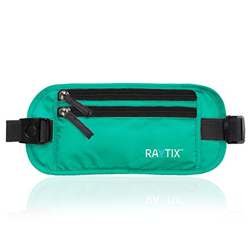 Raytix Travel Money Belt With RFID Transmissions –Secure, Hidden Travel Wallet (Gray) 2020 NEW STYLE (turquoise)