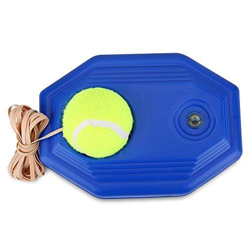 VGEBY Tennis Trainer, Tennisball Ball Trainer Tennis Baseboard mit Einem Seil und 1 Trainingsball Tennis Selbststudium Praxis Training Tool für Anfänger Kinder Erwachsene