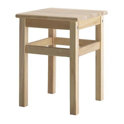Ikea ODDVAR Holz Hocker