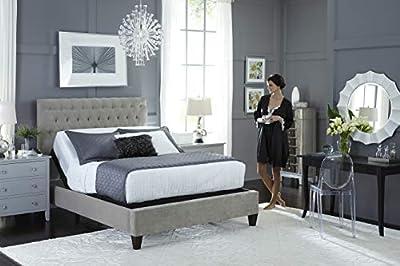 DynastyMattress 14-Inch CoolBreeze Gel Memory Foam Mattress with S-Cape Adjustable Beds Set Sleep System Leggett & Platt (Queen Without/Setup, Grey)