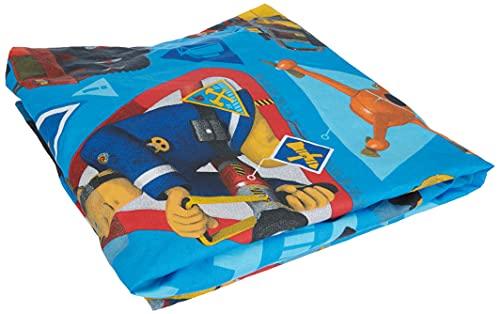 Jerry Fabrics JF0239 Fireman Sam Bettlaken 90 x 200 cm Baumwolle Feuerwehrmann Sam, Blue, 90 x 200 x cm