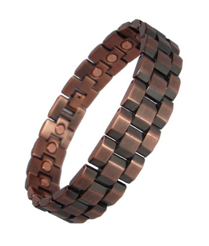 Mens Chunky Link Magnetic Bracelets - Copper or Gunmetal (Copper)