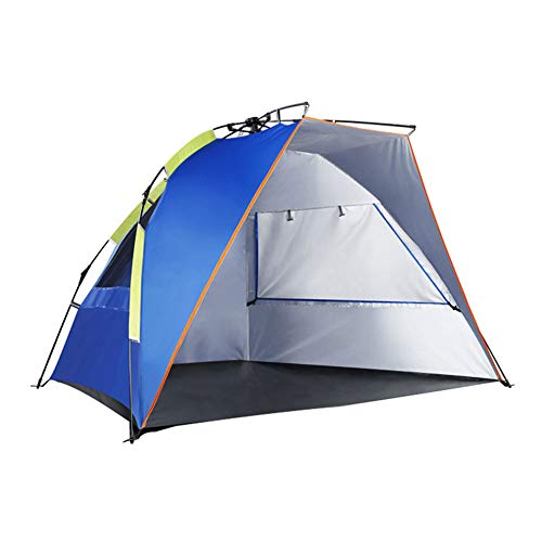 SAHWIN Pop Up Beach Tent, for 2-4 Person,Rated UPF 50+ for UV Sun Protection,Waterproof Sun Shelters for Family Camping, Fishing, Picnic-Blue
