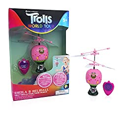 ENDLESS FUN - Amaze your friends with the flying toy inspired by Sheila B from the Trolls World Tour film EASY TO FLY - Simply use your hands or feet to control the mini flying ball AUTO HOVER TECHNOLOGY - Using patented Infrared remote controlled se...
