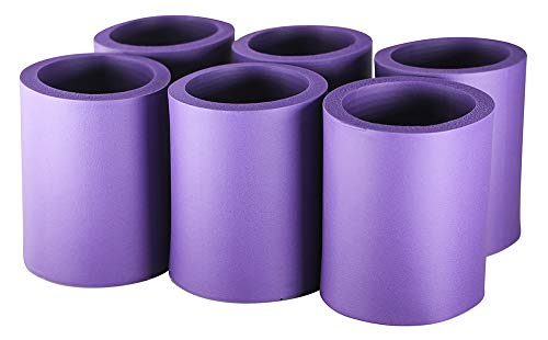 Pinnacle Mercantile Beer Can Coolers Thick Insulators Foam Non-Collapsible Purple Set 6