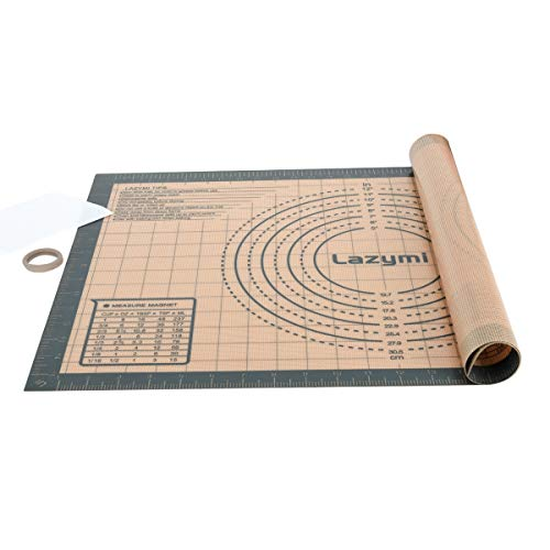 Thick Silicone Pastry Rolling Mat with Measurement 60×40 cm, Large Non...
