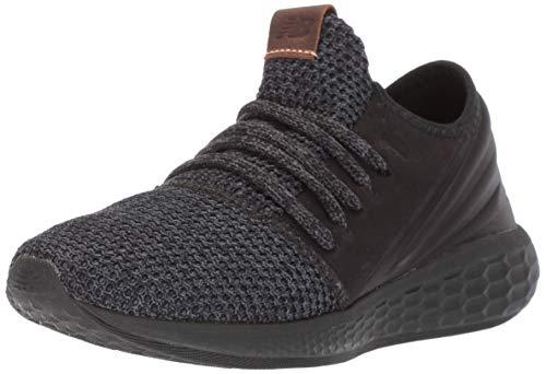 New Balance Women's Fresh Foam Cruz Decon V2 Sneaker, Black Knit/Black, 8.5 M US