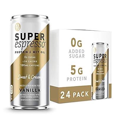 Kitu Super Espresso, SugarFree Keto Coffee Cans (0g Sugar, 5g Protein, 35 Calories) [Vanilla] 6 Fl Oz, 24 Pack | Iced Coffee, Canned Coffee - From the Super Coffee Family