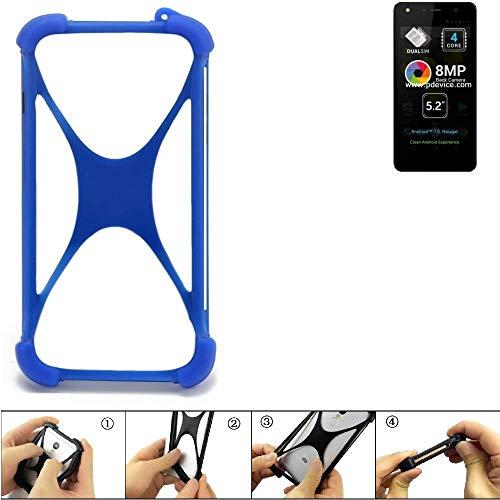 K-S-Trade® Handyhülle Für Allview A9 Lite Silikon Schutz Hülle Cover Case Bumper Silikoncase TPU Softcase Schutzhülle Smartphone Stoßschutz, Blau (1x),
