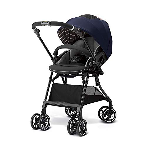 Best Review Of High Landscape Lightweight Bi-Directional Stroller Can Sit and Fold Folding Shock-Absorbing Baby Child Umbrella, Buggy (Color : Blue)
