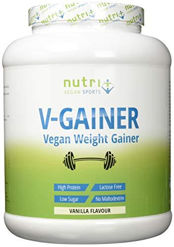 WEIGHT & MASS GAINER Vegan - Vanille 2 kg - V-GAINER - Masseaufbau & Zunehmen ohne Maltodextrin, Creatin & Zucker - Carbs & Protein 2000g laktosefrei - hergestellt in Deutschland