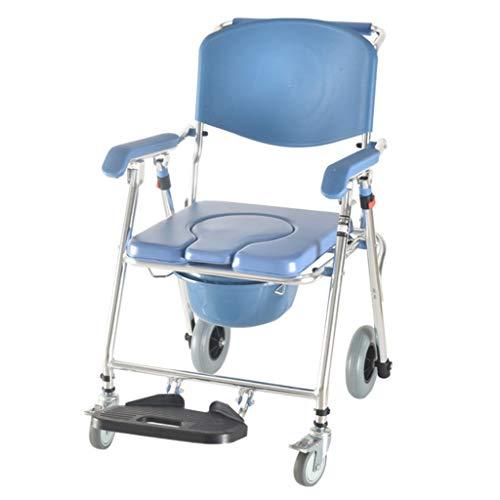 Toiletstoel voor senioren, rolstoel voor senioren, badkamerstoel, toiletstoel, inklapbare toiletstoel, rolstoel met toilet O water voor gehandicapten.