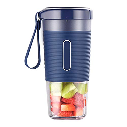 Portable Blender USB Blender Draadloze Small Juicer Cup Smoothie Fruit Mixer Oplaadbare BPA gratis 300ml Home Outdoor Sport Travel Office ZHANGKANG (Color : Blue)