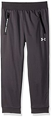 Under Armour Boys' Little Pennant Tapered Pant, Charcoal, 6 by Under Armour