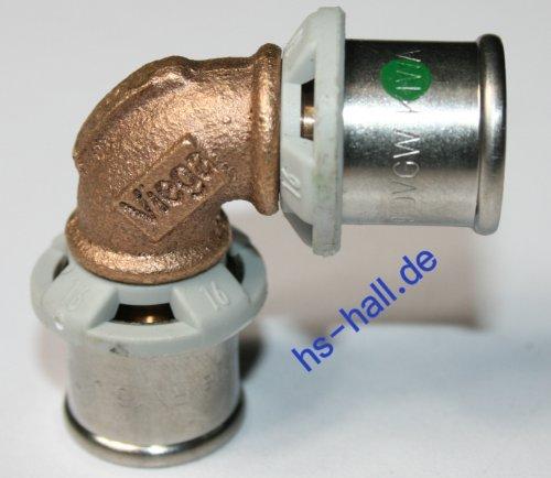 Viega Sanfix P Fosta Bogen Winkel 90° 16 mm Pressfitting