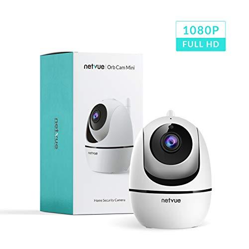 NETVUE WLAN IP Kamera Nachtsicht Schwenkbar 1080P HD Überwachungskamera Innen Indoor Cam für Kinder Ältere Haustiere mit Bewegungserkennung Zwei-Wege-Audio App Kontrolle Cloud-Speicher/SD Karte