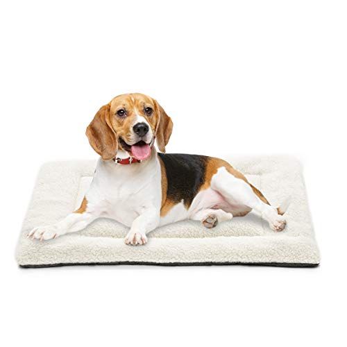 INVENHO Dog Bed Mat Comfortable Soft Crate Pad Anti-Slip Washable Dog Crate Pad for Large Medium Dogs & Cats 36-Inch