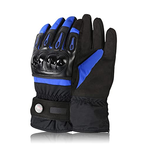 LIONCIANO Motorbike Motorcycle Gloves, Powersports Racing Gloves Warm Windproof Waterproof, Touch Screen Gloves for Men and Women(Blue, XXL)